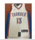 Oklahoma City Thunder #13 Kevin Durant new white Blue NBA Jersey