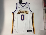 Los Angeles Lakers #0  White new NBA Jersey