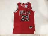 Mitchell and Ness Chicago Bulls #23 Michael Jordan Stitched Red Throwback NBA Jersey