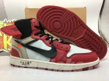 Super Max Perfect OFF-WHITE x Air Jordan 1 Men Shoes -SY (2)