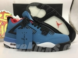 "Perfect Air Jordan 4 ""Houston Oilers x Travis Scott Men Shoes -SY"