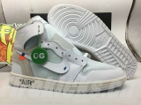 "(Final version)Authentic OFF-WHITE x Air Jordan 1 ""White Grey"" -ZL"