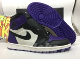 "(Final version)Authentic Air Jordan 1 ""Court Purple"""