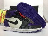 "Perfect  Air Jordan 1 ""Court Purple""Men Shoes -SY"