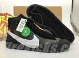 "Authentic Nike Blazer x OFF-WHITE Studio Mid""Black"" Men And Women Shoes -ZL"