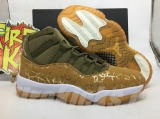 "Perfect Jordan 11 ""Olive Lux"" Men Shoes-SY"