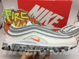 "Nike Super Max Perfect Air Max 97 OG""White Cone-Metallic Sliver"" Men And Women Shoes(98%Authentic)-JB (148)"