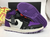 "Air Jordan 1 ""Court Purple"" AAA Women Shoes -SY"