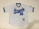 Mitchell And Ness 1980 Kansas City Royals #16 Bo Jackson White Throwback Stitched MLB Jersey