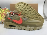 "(Final version)OFF-WHITE x Authentic Nike Air Max 90 ""Desert Ore"" Men Shoes-LY"