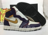 "Authentic Nike SB x Air Jordan 1 Retro High OG ""Court Purple""Men Shoes -ZL"