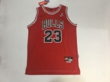 Mitchell And Ness Chicago Bulls #23 Michael Jordan Red With Finals Patch Stitched NBA Throwback Jersey
