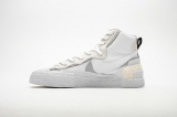 2019.10 Sacai x  Authentic Nike Blazer Mid White Grey  Men And Women Shoes -LY(4)