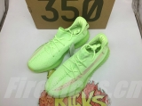 "Super Max Perfect Adidas Yeezy Boost 350 V2 ""Glow In The Dark"" Men And Women Shoes-LY"