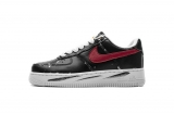 2019.12 PEACEMINUSONE Nike Authentic Air Force 1 Low Black Red Men And Women Shoes -LY