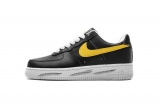 2019.12 PEACEMINUSONE Nike Authentic Air Force 1 Low Black Yellow Men And Women Shoes -LY