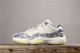 "2019.12 Perfect Air Jordan 11 Low Snakeskin""Light Bone""Men Shoes-SY (9)"
