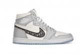 Dior x Authentic Air Jordan 1 Men Shoes -ZL