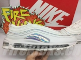 2019.10 Nike Super Max Perfect Air Max 97 White/Metallic Silver/Iridescent Men And Women Shoes(98%Authentic)-LY (184)