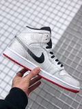 "2020.04 Edison Chen x Perfect Air Jordan 1 Mid ""Fearless"" Women Shoes -SY(2)"
