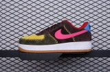 "2020.05 Travis Scott x Nike Super Max Perfect Air Force 1 Low Suede ""Brow/Yellow/Pink"" Men And Women Shoes (98%Authentic)-JB (79)"