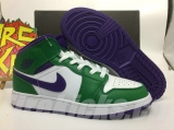 "2020.6 (Sale)Super Max Perfect Air Jordan 1 Mid""Incredible Hulk""Men And Women Shoes(no worry!good quality) -GCZX (16)"
