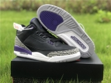 "2020.7 Super Max Perfect Air Jordan 3 ""Court Purple"" Men Shoes -ZL"