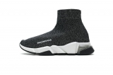 2020.08 Super Max Perfect Belishijia Speed Clear Sole Sneaker Black Silver Men And Women Shoes - LY (18)