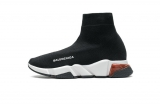 2020.08 Super Max Perfect Belishijia Speed Clear Sole Sneaker Black White Red Men And Women Shoes - LY (20)