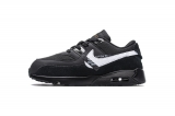 "2020.8 OFF-WHITE x Super Max Perfect  Nike Air Max 90 ""All Black"" Kid Shoes-LY (1)"