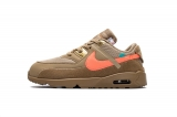 "2020.8 OFF-WHITE x Super Max Perfect Nike Air Max 90 ""Desert Ore"" Kid Shoes-LY (2)"