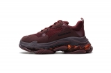 2020.8 Authentic Belishijia Triple S Red Wine Men And Women Shoes -LY (115)