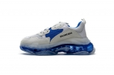 2020.8 Authentic Belishijia Triple S White Blue Men And Women Shoes -LY (118)